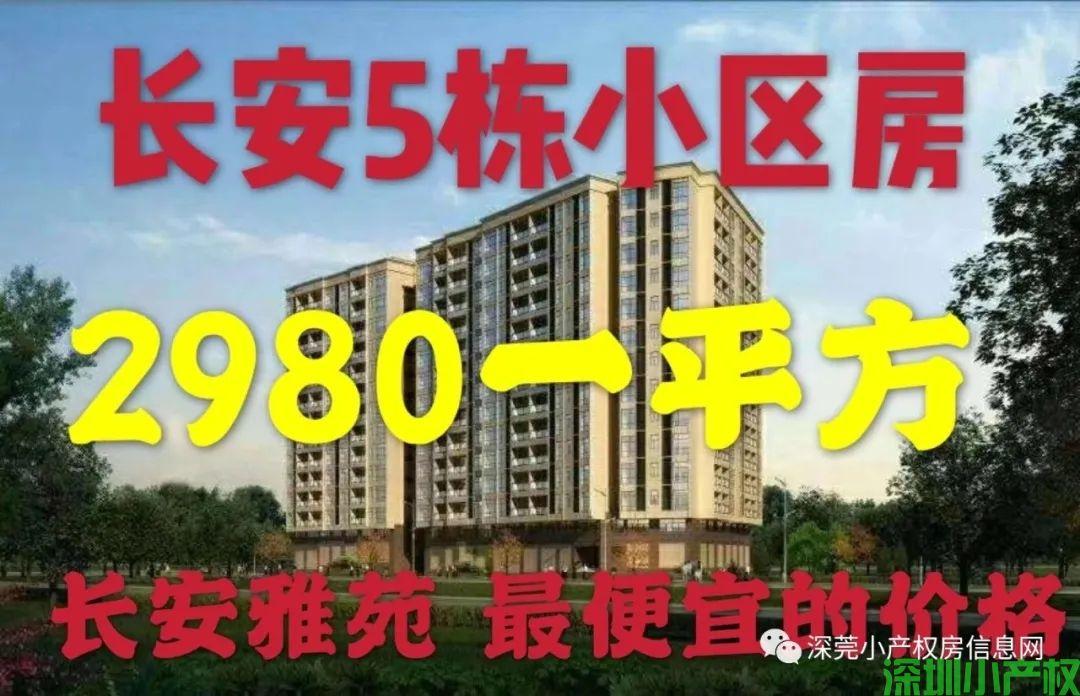 5栋小区电梯洋房2980每平起 长安小产权房【长安雅苑】首付3成分期10年